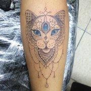 双小姐小臂水彩水母纹身图案图片